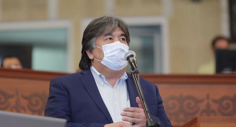 Депутат Жогорку Кенеша Садык Шер-Нияз на заседании