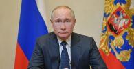 Президент РФ Владимир Путин во время обращения к гражданам. Архивное фото