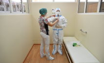 Медицинские работники в стационаре. Архивное фото