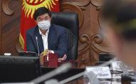 Премьер-министр Мухаммедкалый Абылгазиев на совещании