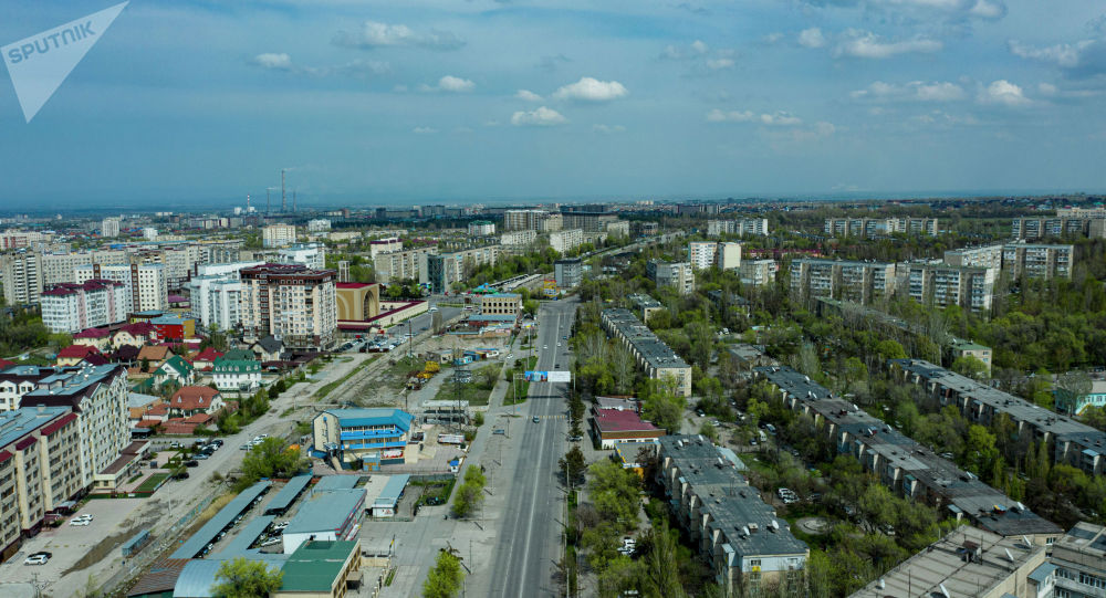 Вид на южные микрорайоны Бишкека с дрона. Архивное фото