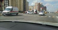 ДТП с участием скорой помощи в микрорайоне Джал
