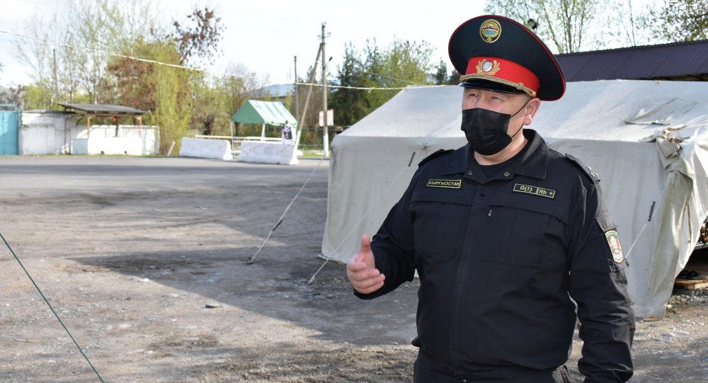 Ош шаарынын, Кара-Суу жана Ноокат райондорунун коменданты Малик Нурдинов. Архивдик сүрөт