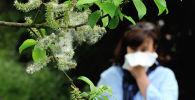Аллергиясы бар аял. Архивдик сүрөт