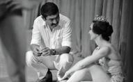 Кинорежиссер Дооронбек Садырбаев и балерина Айсулуу Токомбаева, 1977 год, Фрунзе