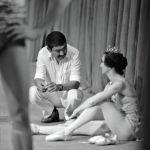 Кинорежиссёр Дооронбек Садырбаев менен балерина Айсулуу Токомбаева, Фрунзе шаары, 1977-жыл.