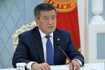 Президент КР Сооронбай Жээнбеков на внеочередном заседании ССТГ в формате видеоконференции