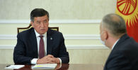 Президент Сооронбай Жээнбеков биринчи вице-премьер-министр Кубатбек Бороновду кабыл алды
