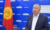Первый вице-премьер-министр КР Кубатбек Боронов. Архивное фото