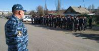 Построение милиции г. Каракол. 19 апреля 2020 года