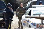 Сотрудники полиции Канады на месте задержания подозреваемого Габриэля Вортмана