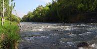 Вид на реку Ак-Буура в городе Ош