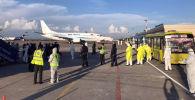 Новосибирскиден 176 кыргызстандык чартердик рейс менен Бишкекке келди