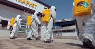 СOVID-19 вирусу менен күрөшүү үчүн ӨКМ кызматкерлери күн сайын жүздөгөн жерди дезинфекциялап, обсервацияларды тейлеп, азык-түлүк ташып, күнү-түнү телефондон жарандарга маалымат берүүдө.