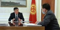 Президент Сооронбай Жээнбеков бүгүн, 23-апрелде, ички иштер министри Кашкар Жунушалиевди кабыл алды