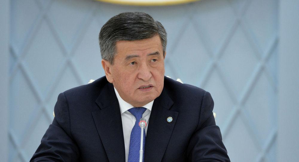 Президент КР Сооронбай Жээнбеков на заседании Совета безопасности в узком составе