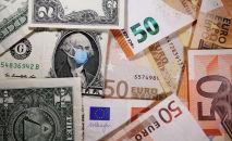 Доллар жана евро акчалары. Архивдик сүрөт