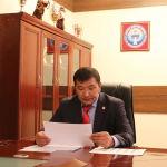 Өкмөттүн Талас облусундагы өкүлү Марат Мураталиев