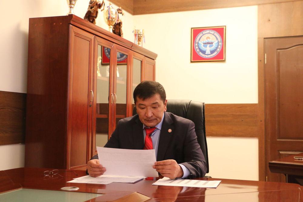 Полпред правительства в Таласской области Марат Мураталиев