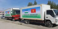 Баткенская область отправила гуманитарную помощь населению Ферганской области Узбекистана