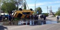 Бишкекте унаа шар аккан сууга түшүп кетти