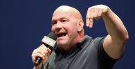 Дана Уайт выступает на пресс-конференции по случаю смешанных боевых искусств UFC 244  в Нью-Йорке. 19 сентября 2019 года