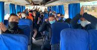 Оренбургда калып калган 400дөн ашуун кыргызстандык 9 автобус менен жолго чыкты