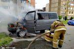 Информация о возгорании машины в микрорайоне  Джал-15 в МЧС КР поступило в 10:35, пожар потушен в 11:05. Для тушения возгорания привлечен один пожарный расчет.
