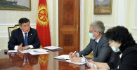 Президент Кыргызской Республики Сооронбай Жээнбеков сегодня, 5 мая, принял вице-премьер-министра Кыргызской Республики Эркина Асрандиева.