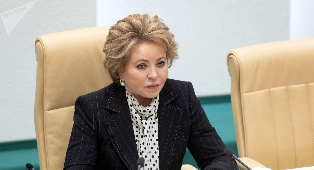 Спикер Совета Федерации, председатель совета Межпарламентской ассамблеи государств-участников СНГ Валентина Матвиенко