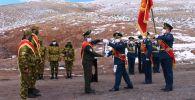 Пограничники КР передали Эстафету Победы пограничникам Таджикистана