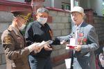 Награждение юбилейными медалями Кыргызстана и России ветеранов Великой Отечественной войны