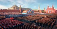 Из-за эпидемии коронавируса в России торжества по случаю 75-летия Победы, в том числе парады, перенесены на более поздний срок. Однако над Москвой пролетит военная авиация.
