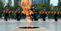 Митинг-реквием в честь Победы в ВОВ на площади Победы в Бишкеке. Архивное фото
