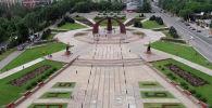 Бишкектин Жеңиш аянтына асмандан көрүнүш. Архивдик сүрөт