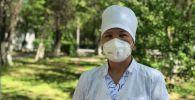Республикалык жугуштуу оорулар клиникалык ооруканасында медайым Жакут Орозалиева