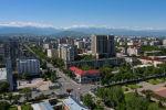 Вид на пересечение улиц Киевская и Абдрахманова в Бишкеке с высоты