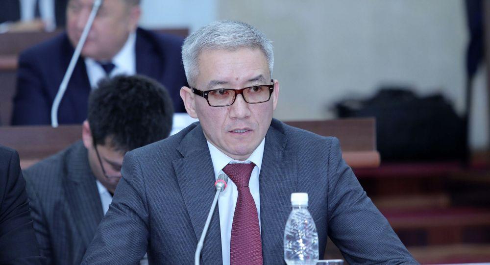 Вице-премьер-министр Эркин Асрандиев на заседании Жогорку Кенеша
