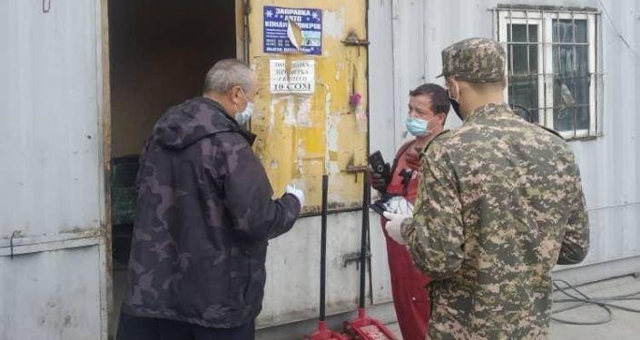 Выявление фактов несоблюдения санитарно-карантинных мер предприятий Бишкека