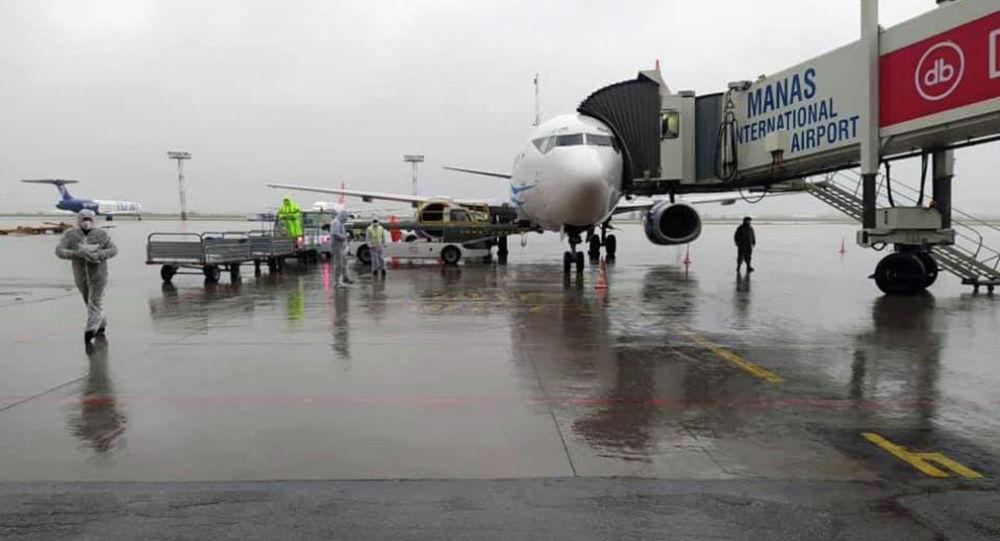 В Международном аэропорту Манас встретили чартерный рейс Москва-Бишкек авиакомпании Авиа Траффик. 14 мая 202 года