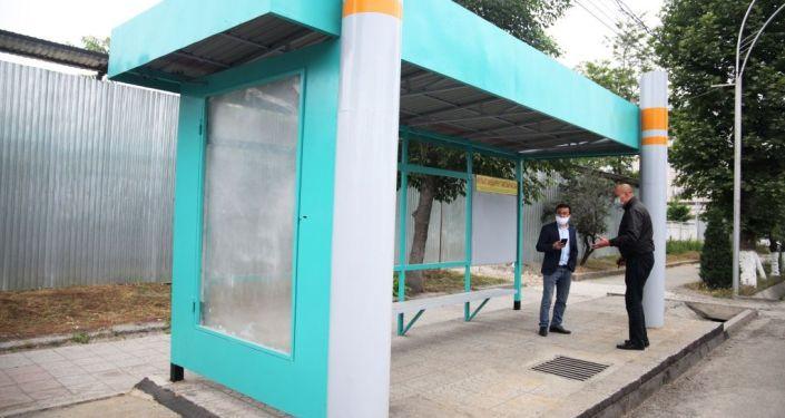 В Оше началась работа по реконструкции остановок общественного транспорта.