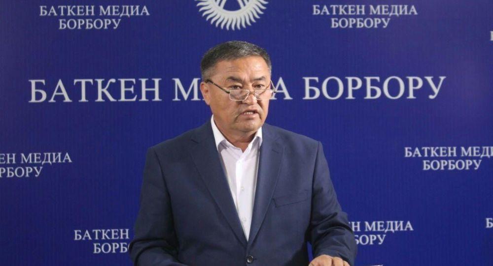 Полномочный представитель правительства в Баткенской области Алишер Абдрахманов. Архивное фото