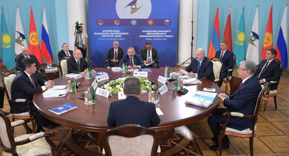 Заседание Высшего евразийского экономического совета (ВЕЭС) в узком составе в Ереване. Архивное фото
