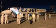 В Международном аэропорту «Манас» 15 мая встретили чартерный рейс Санкт-Петербург-Бишкек авиакомпании «Тез Джет».