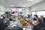Первый вице-премьер-министр Кыргызской Республики Кубатбек Боронов в ходе заседания Республиканского оперативного штаба.