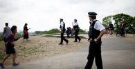 Полицейские на Примроуз-Хилл в Лондоне, Великобритания