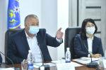 Биринчи вице-премьер Кубатбек Боронов Республикалык штабдын жыйынында