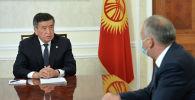 Архивное фото президента Кыргызской Республики Сооронбая Жээнбекова и премьер-министра Кубатбека Боронова