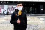 Sputnik Кыргызстан агенттигинин кабарчысы борбор калаадагы санитардык эрежелердин аткарылышына байкоо салуу үчүн көчөгө чыкты.