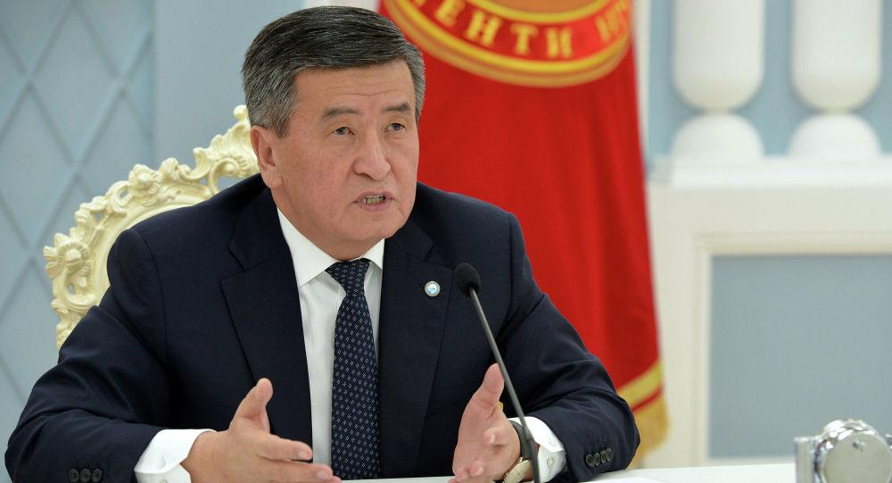 Президент Кыргызской Республики Сооронбай Жээнбеков на очередном заседании Высшего Евразийского экономического совета (ВЕЭС). 19 мая 2020 года